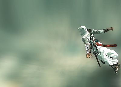 Assassins Creed, jumping, artwork - desktop wallpaper