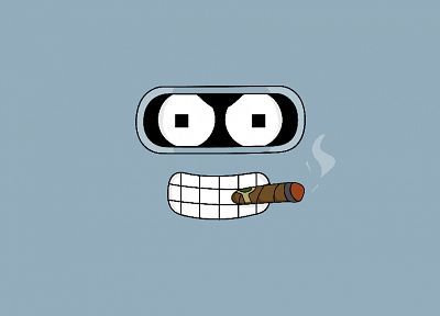 Futurama, Bender, minimalistic, toon - desktop wallpaper