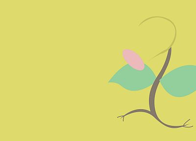 Pokemon, minimalistic, Bellsprout - desktop wallpaper