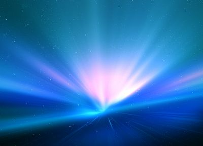abstract, blue, minimalistic, Mac, aurora borealis - desktop wallpaper