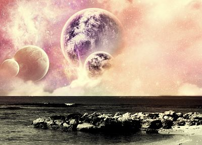 planets, photo manipulation - desktop wallpaper