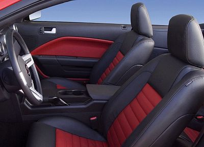 cars, vehicles, Ford Mustang, car interiors - desktop wallpaper