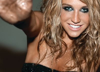 blondes, women, celebrity, Kesha Sebert, singers - desktop wallpaper