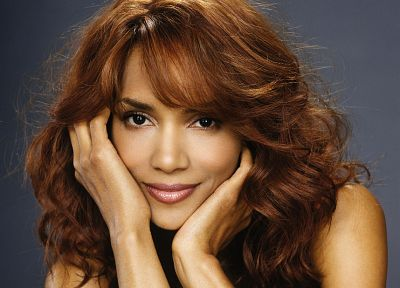 women, black people, redheads, Halle Berry, smiling, faces - random desktop wallpaper