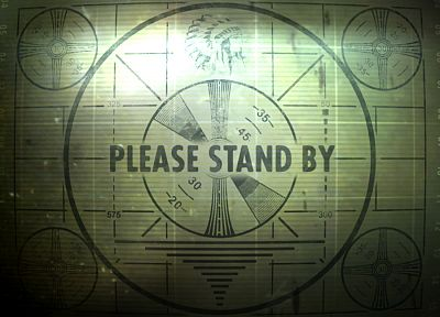 TV, video games, Fallout, Classic, Fallout 3, test pattern - related desktop wallpaper