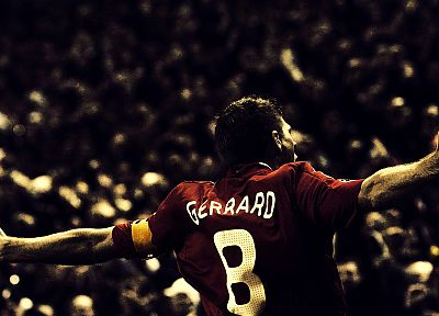 sports, soccer, Liverpool FC, Steven Gerrard - random desktop wallpaper