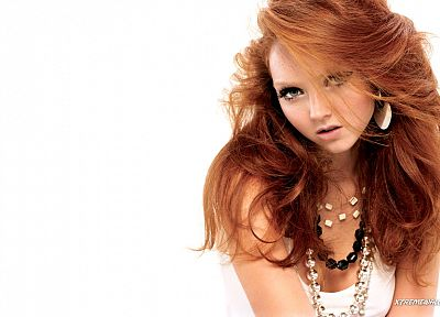 women, Lily Cole, faces, white background - random desktop wallpaper