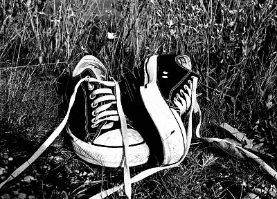 green, grass, shoes, grayscale, Converse, monochrome, sneakers, all star - random desktop wallpaper
