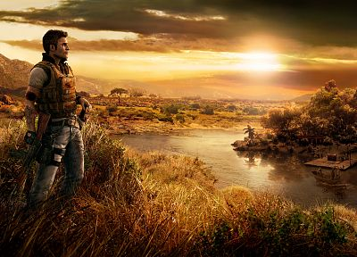 sunset, video games, clouds, landscapes, Far Cry - desktop wallpaper