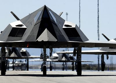 aircraft, military, Lockheed F-117 Nighthawk - desktop wallpaper