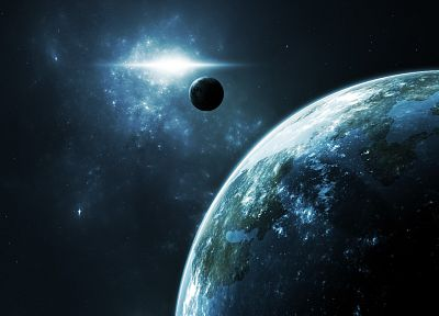 outer space, galaxies, planets - related desktop wallpaper