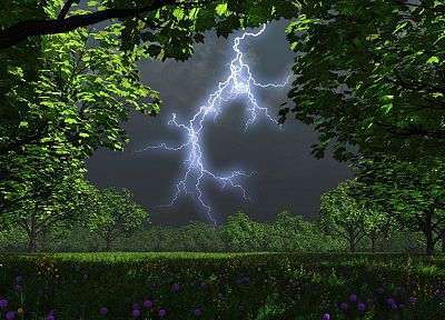 landscapes, nature, weather, lightning - random desktop wallpaper
