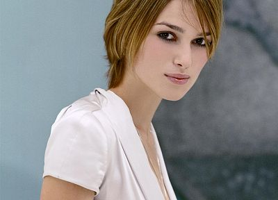 women, actress, Keira Knightley, short hair - random desktop wallpaper