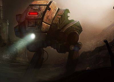 robots, futuristic, mecha, artwork, chains, underwater - desktop wallpaper