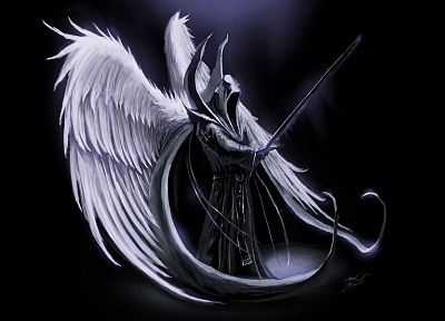 angels, death, dark, Diablo, Wing Commander, swords, Malthael - related desktop wallpaper