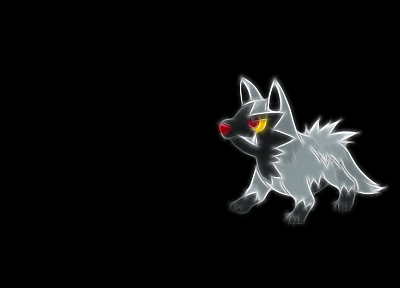 Pokemon, Fractalius, black background, Poochyena - related desktop wallpaper