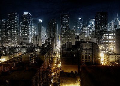 cityscapes, night, architecture, buildings - random desktop wallpaper