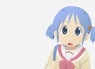 school uniforms, Nichijou, Naganohara Mio, simple background - desktop wallpaper
