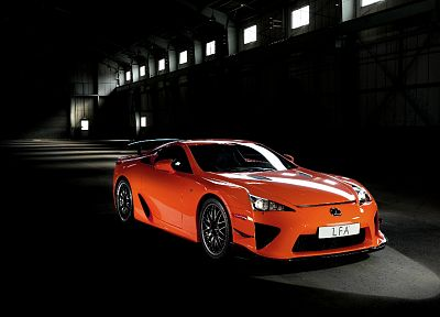 cars, Lexus, Lexus LFA, orange cars - desktop wallpaper