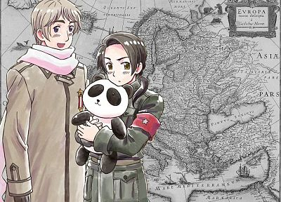China, Russia, panda bears, maps, anime, Axis Powers Hetalia - related desktop wallpaper