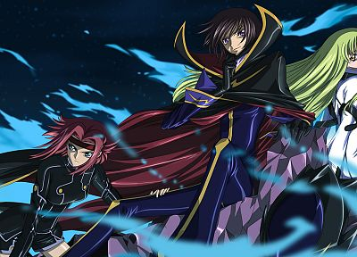 Code Geass, Stadtfeld Kallen, Lamperouge Lelouch, C.C., anime - random desktop wallpaper