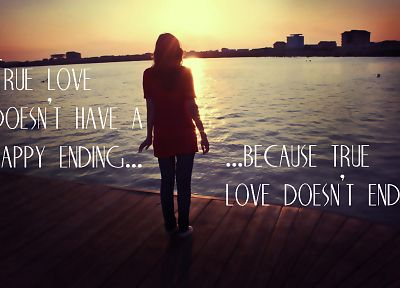 sunset, love, text - desktop wallpaper