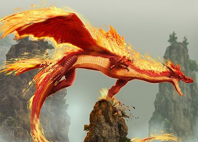 dragons, digital art, Dragon Soul, 3D - related desktop wallpaper