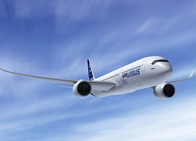aircraft, Airbus A350 - random desktop wallpaper