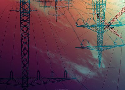 power lines - desktop wallpaper