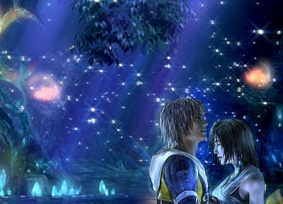 video games, Yuna, Tidus, Final Fantasy X - random desktop wallpaper