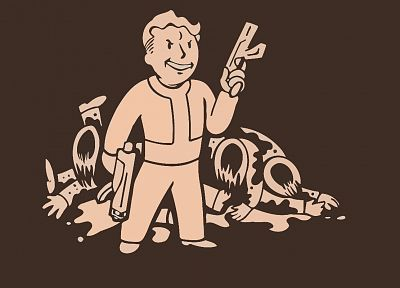 video games, Fallout, Vault Boy - random desktop wallpaper