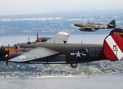 aircraft, World War II, Me 262 Schwalbe, B-24 Liberator - related desktop wallpaper