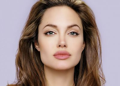 women, actress, Angelina Jolie, lips, green eyes, faces - random desktop wallpaper