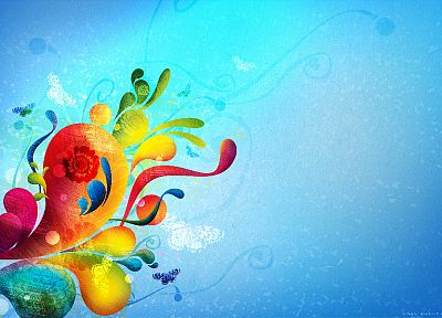 abstract, blue, multicolor, design - related desktop wallpaper