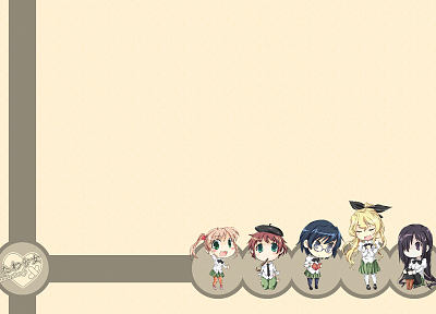 video games, school uniforms, Katawa Shoujo, Ikezawa Hanako, Satou Lilly, Ibarazaki Emi, Tezuka Rin, Hakamichi Shizune - related desktop wallpaper