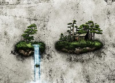abstract, fantasy art, islands, artwork, floating islands - desktop wallpaper