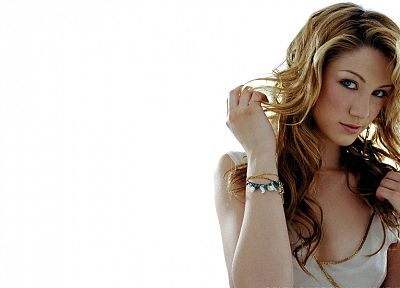 women, blue eyes, Delta Goodrem, singers, Australian, white background - related desktop wallpaper