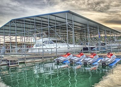 dock, boats, vehicles, HDR photography - desktop wallpaper