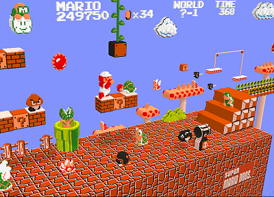 Nintendo, Super Mario, voxels - related desktop wallpaper