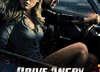 Amber Heard, Nicolas Cage, movie posters, Drive Angry - related desktop wallpaper