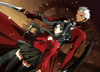 Fate/Stay Night, Tohsaka Rin, Type-Moon, Archer (Fate/Stay Night), Fate series - related desktop wallpaper