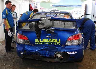 cars, crash, wrecks, rally, Subaru, WRC, Subaru Impreza, Subaru Impreza WRX, Subaru Impreza WRX STI - related desktop wallpaper