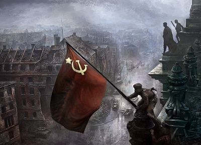 communism, red, Russia, CCCP, flags, USSR, Hearts of Iron, Abdulkhakim Ismailov - related desktop wallpaper