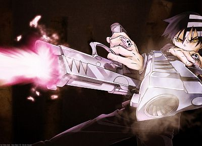Soul Eater, pistols, weapons, Death The Kid, anime boys, children - random desktop wallpaper