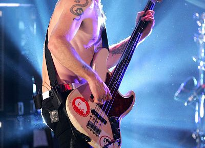 music, bass guitars, Red Hot Chili Peppers, Flea, concert, J-Bass - desktop wallpaper