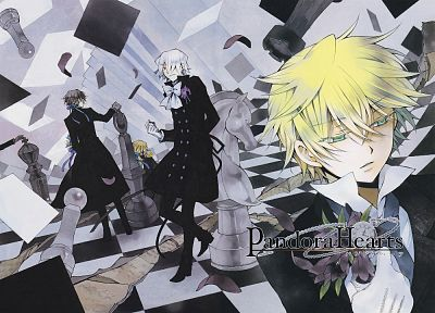 chess, Pandora Hearts, anime, chess pieces, anime boys, Gilbert Nightray, Oz Vessalius, Xerxes Break - random desktop wallpaper