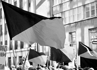 flags, monochrome - desktop wallpaper