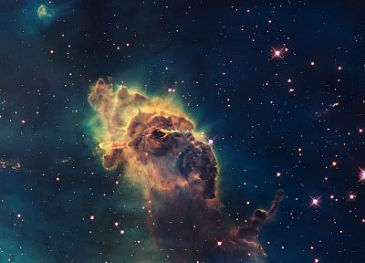 clouds, outer space, stars, galaxies, planets, nebulae, dust, Carina nebula - desktop wallpaper