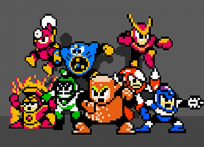 Mega Man, 8-bit - random desktop wallpaper