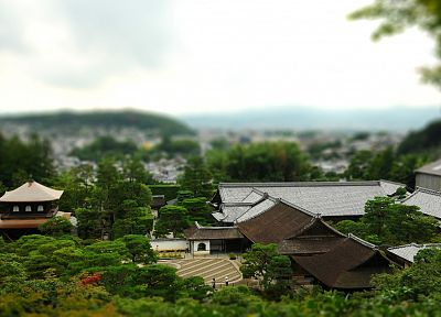 Japan, tilt-shift - random desktop wallpaper